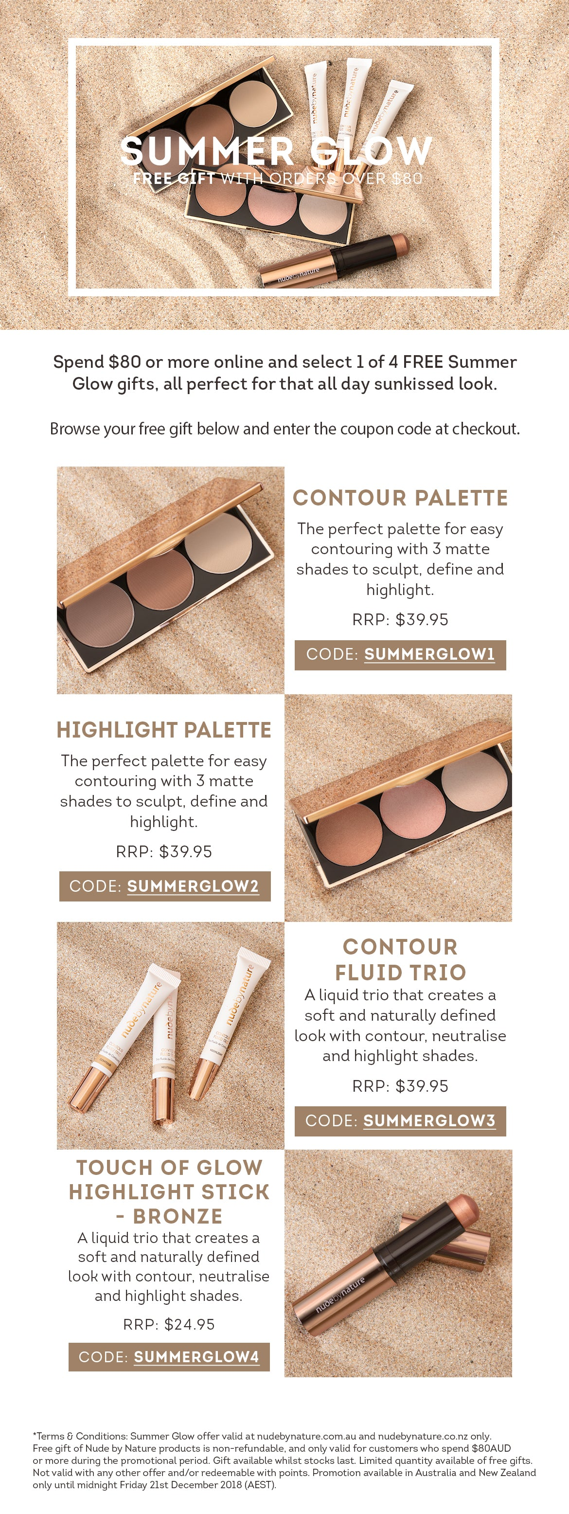 Summer Glow Free Makeup Gift with Purchase