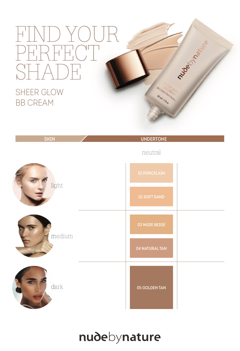 Sheer Glow Bb Cream Nude By Nature Au Cc Natural Shades