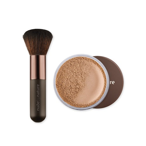 Mineral cover and brush duo