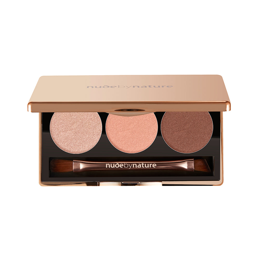 Natural Illusion Eyeshadow Trio - Rose - Nude by Nature AU