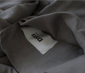 Warm Grey 100% Hemp Linen Bed Set
