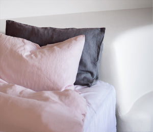 Soft Pink 100% Hemp Linen Duvet Cover