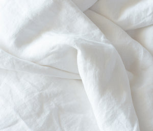 White 100% Hemp Linen Bed Set