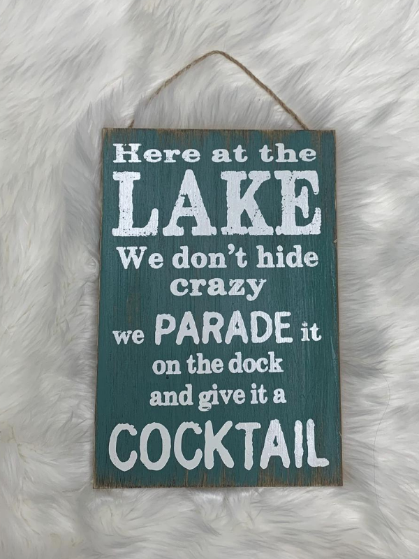 Here at the Lake sign