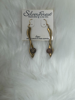 2 1/4 inch gold dangle earrings