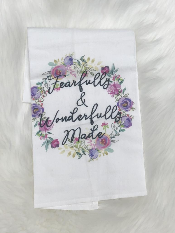 Fearfully and Wonderfully Made Tea Towel