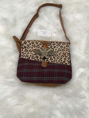 Leopard & plaid purse