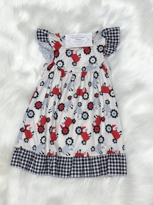 Plaid Tractor Dress