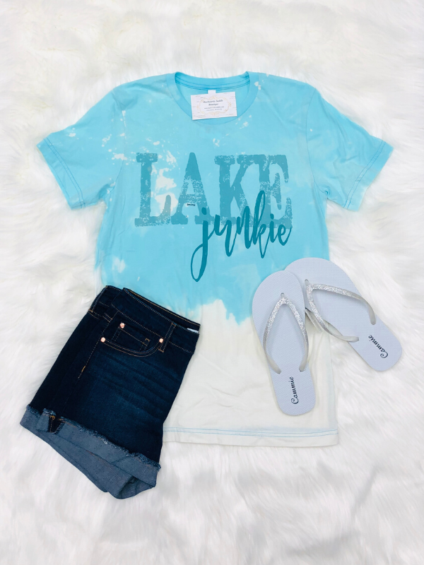 Lake Junkie Faded Tee