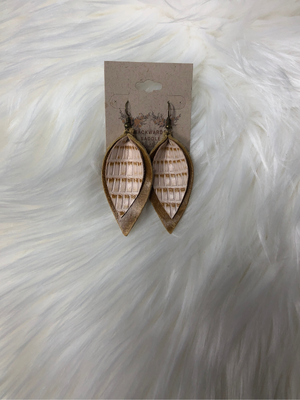 Tobacco Colored Layered Petal Earring