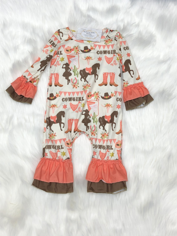 Cowgirl Baby Romper