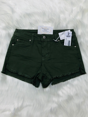 Celebrity Pink Green Denim Shorts