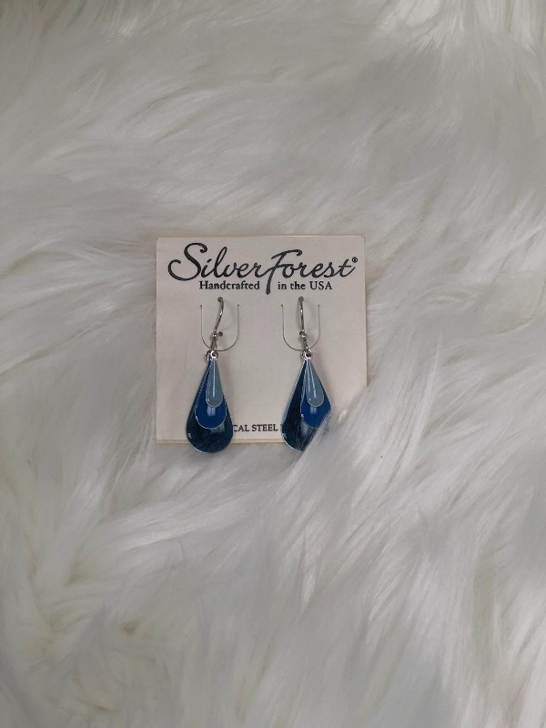 3 Layers of skinny tear drop earrings