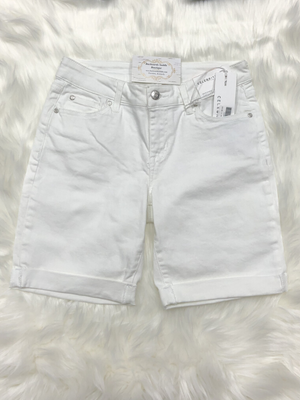 Celebrity Pink White Denim Bermuda Shorts