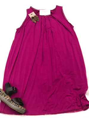 Raspberry Shift Dress