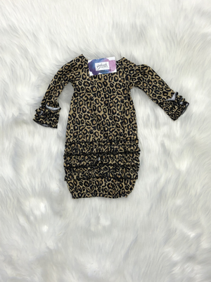 Golden Leopard Baby Gown