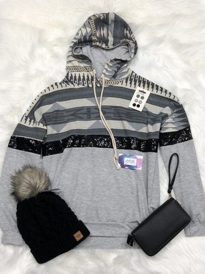 Aztec & Sequence pullover