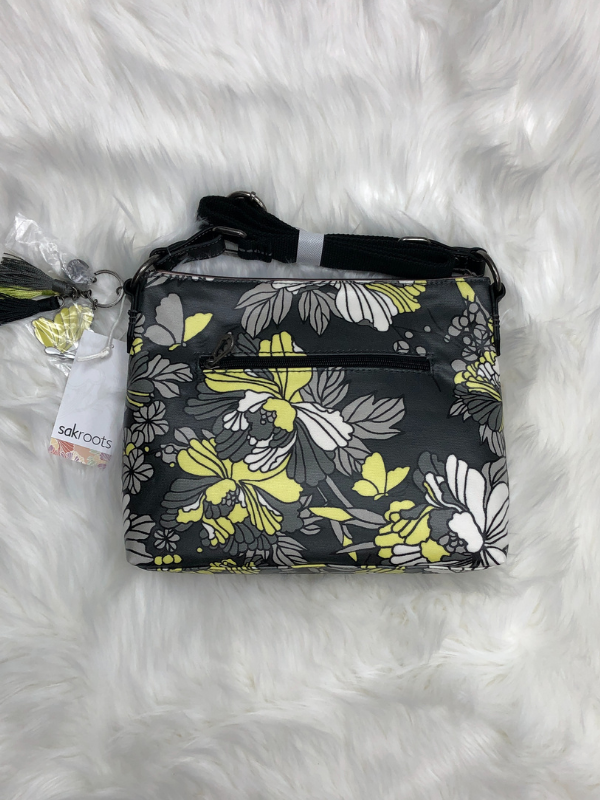 Slate Flower Blossoms Basic Crossbody