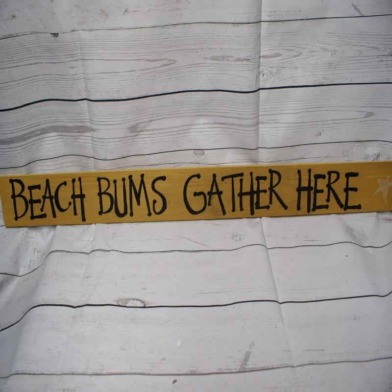 Beach Bums Gather Here Sign