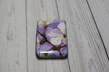 Load image into Gallery viewer, Purple Floral Card Case