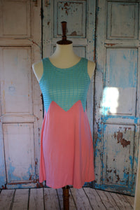Teal & coral sundress