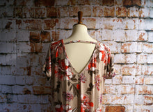 Load image into Gallery viewer, Taupe Floral Dress