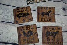 Load image into Gallery viewer, Farmhouse Stone Coaster Set