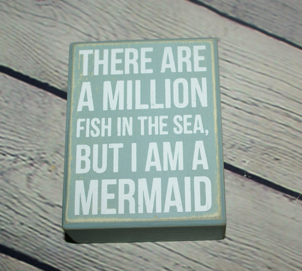 Mermaid Box Sign
