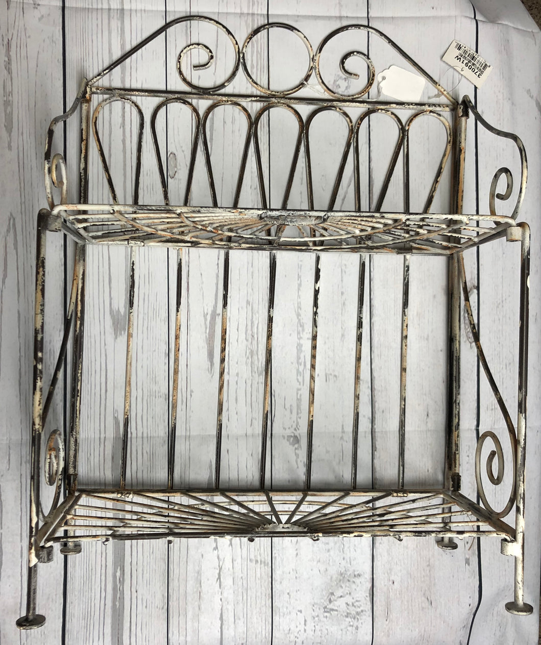 Distressed Metal Stand