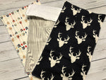 Woodland baby burp cloths