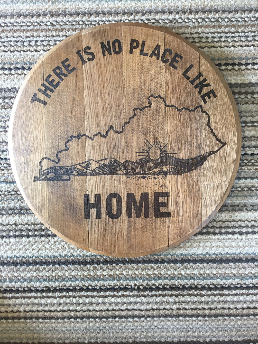 No Place Like Home Whiskey Barrel Top