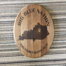 Load image into Gallery viewer, Big Blue Nation Whiskey Barrel Top