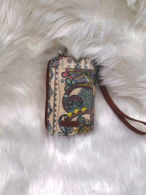 The Sak Smartphone wristlet or crossbody wallet with owls