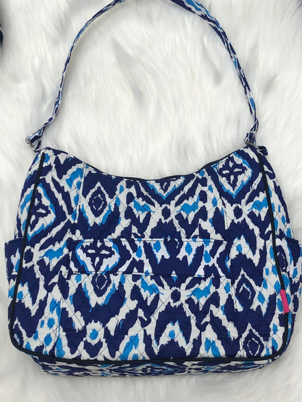 Blue Quilted Purse