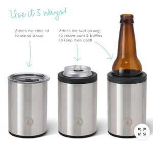 Stainless Steel 12oz Combo Cooler