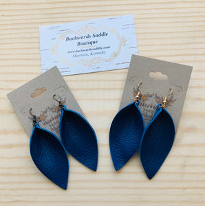 Royal Blue Basic Petal Earrings