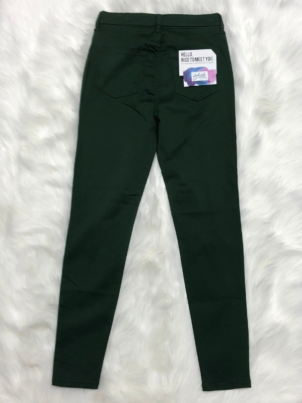 Celebrity Pink Dark Green Skinny Jeans