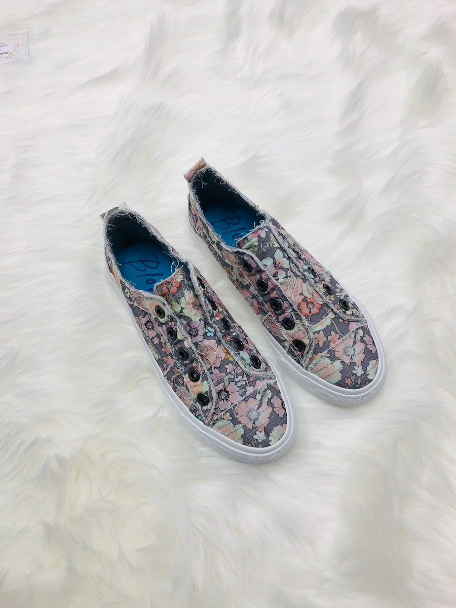 Grey Gypsy Canvas Shoes