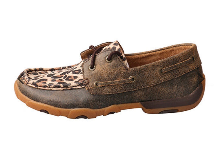 Twisted X Women's Leopard boat shoe
