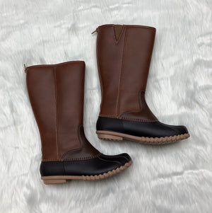 Brown Combo Tall Winter Boot