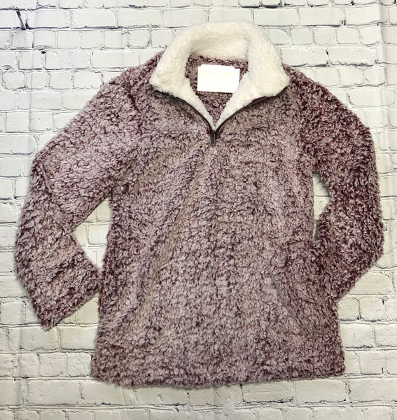 Fluffy pull over jacket