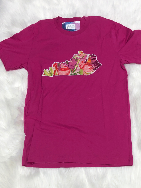 Pink floral KY t-shirt