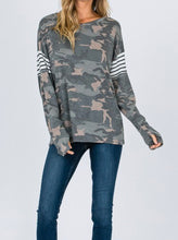 Load image into Gallery viewer, Striped Camo Top