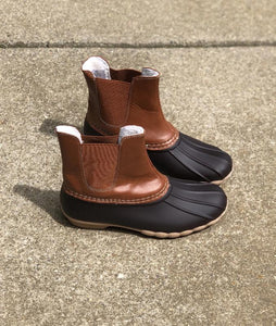 Brown Combo Winter Boots