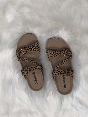 Cheetah Cork Sandal