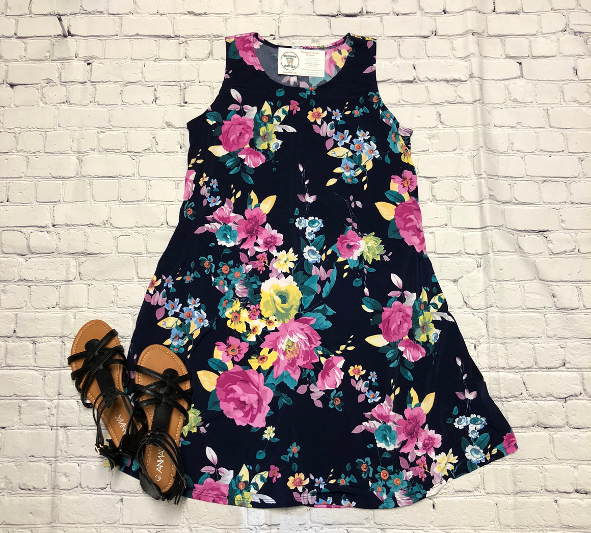 Floral Summer Swing Dress
