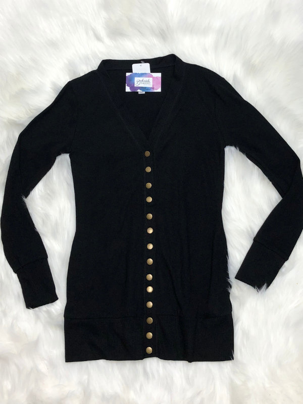 Snap button sweater cardigan