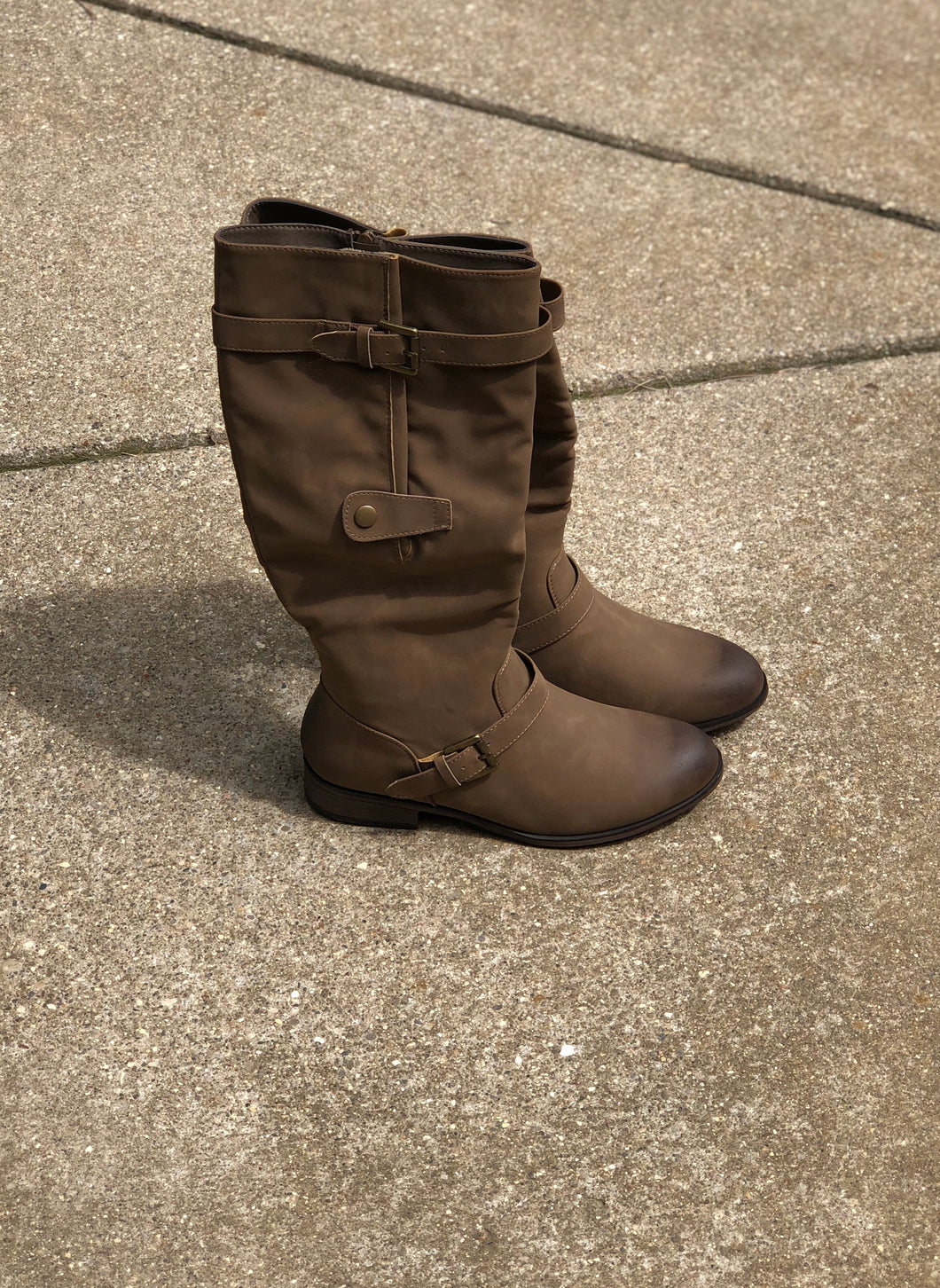 Taupe Tall Riding Boot