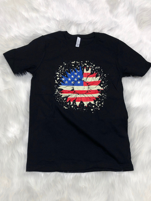 Patriotic Sunflower T-shirt