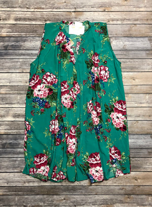 Plus Green Beauty Dress